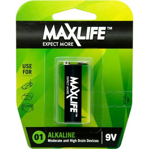 Maxlife 9 Volt Battery – Single Blister Pack